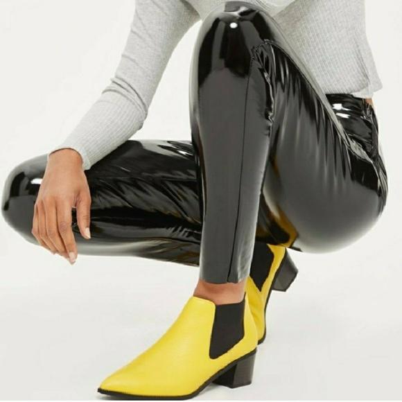 a14e21a31dd174 Topshop Pants | Hp Black Vinyl Stretch Pvc Leggings | Poshmark